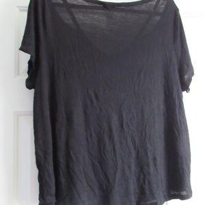 Glitz Tops - Glitz black pocket strappy tee 3x